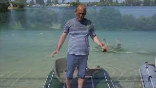 Лодка для рыбалки с мотором 2,5 л.с. катамаранного типа Smart Fisher 380