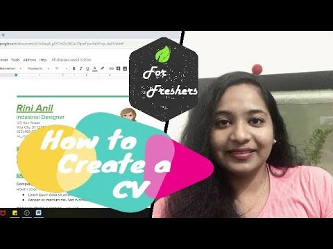 How To Create a CV For Freshers| Malayalam Video