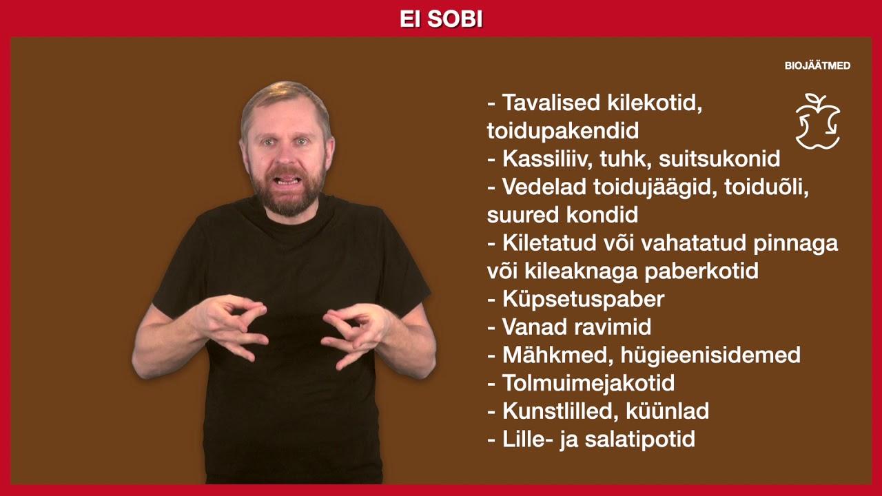 Jäätmete liigiti kogumine eesti viipekeeles