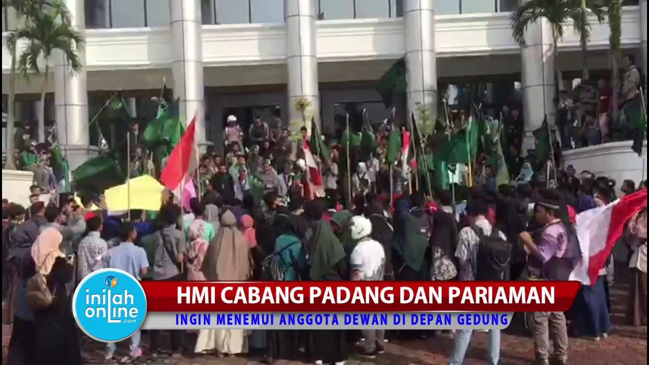 HMI Sumatera Barat Demo di Depan Gedung DPRD  Suarakan Aspirasi Rakyat