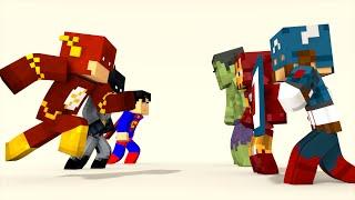 Minecraft: Liga da Justiça Vs Os Vingadores ( Avengers Minecraft) - Batalhas SkyWars