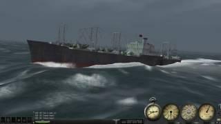 Silent Hunter 3 convoy attack #1
