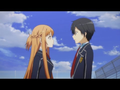 Sword Art Online 2 (English Sub/Dub) - Asuna & Kirito Roof Scene