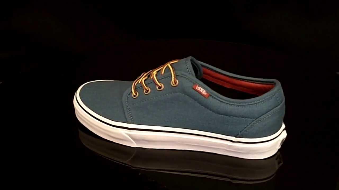 7d68d656ef Vans 106 Vulcanized sneaker Earhtone Indian Teal VR2I8KQ - YouTube
