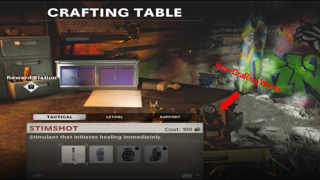How The New Crafting System Works In Die Maschine Call Of Duty Black Ops Cold War Zombies Youtube