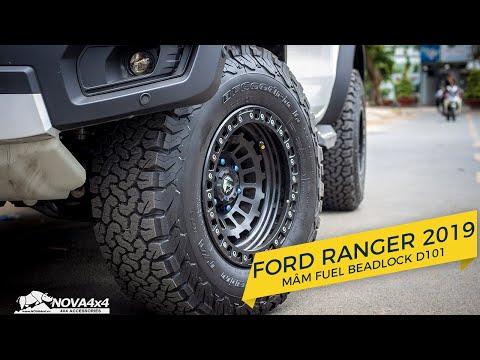 Nâng cấp mâm Fuel Beadlock D101 và lốp BFGoodrich cho bán tải Ford Ranger WildTrak 2019