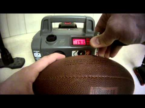 Pressure Testing a Football to NFL Standards #DeflateGate