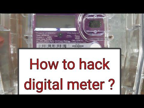 How to stop or hack digital electric meter ?