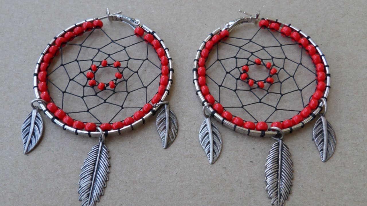 How to create exotic dream catcher earrings diy style for Dream catchers how to make them