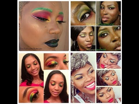 RED, GREEN and GOLD MAKEUP COLLAB feat. Welcome2DivasWorld, Jamaican Makeup Artist & Holmique