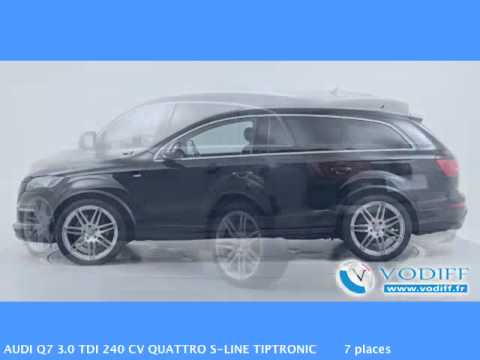 vodiff audi occasion alsace audi q7 3 0 tdi 240 cv quattro s line tiptronic 7 places youtube. Black Bedroom Furniture Sets. Home Design Ideas