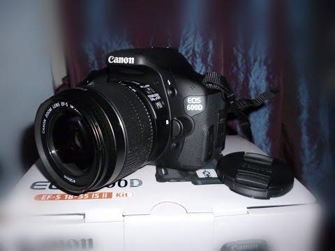 Canon EOS 600D Unboxing/déballage + fonctionnement de base [Français HD 1080p]