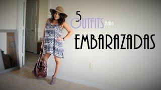 5 outfits para usar cuando estas embarazada PART I / 6 outfits to wear while pregnant Thumbnail