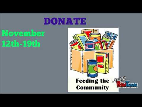 Food Drive Lowrey Middle School