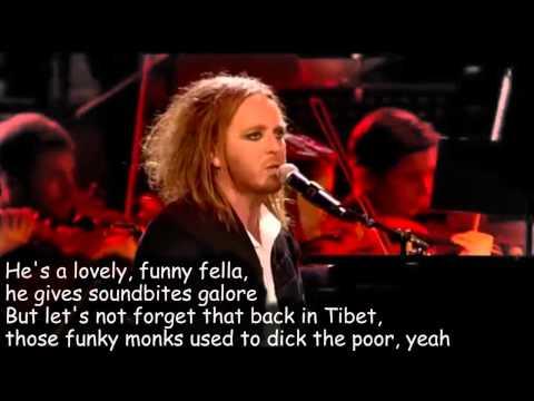 Tim Minchin - The Fence [lyrics on the screen]