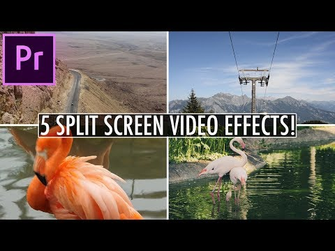 5 Awesome Split Screen Video Effects In Adobe Premiere Pro! (CC Tutorial)