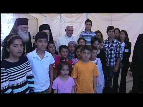 Pope Tells Migrants On Lesbos Island Not To Lose Hope