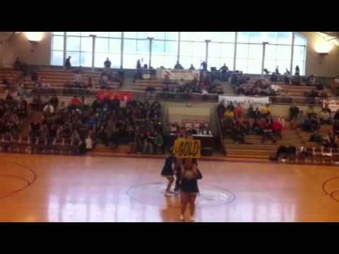 Metlakatla High School cheerleaders routine 2012 regionals