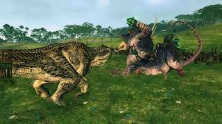 Skaven Hell Pit Abomination vs Feral Carnosaur