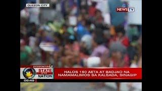 Mahigit 100 katutubong Aeta at Badjao na namamalimos sa kalsada ang...