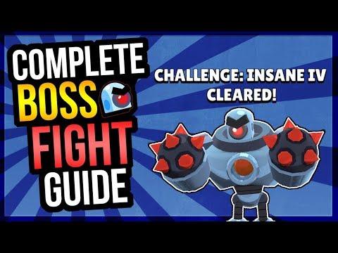HOW TO BEAT BOSS FIGHT! Best Brawlers & Tips! Insane IV Cleared! (Brawl Stars)