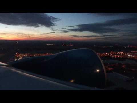 Washington DC (IAD)-to-Paris (CDG) flight w/night view of Baltimore, Philadelphia & NYC 2011-01-10