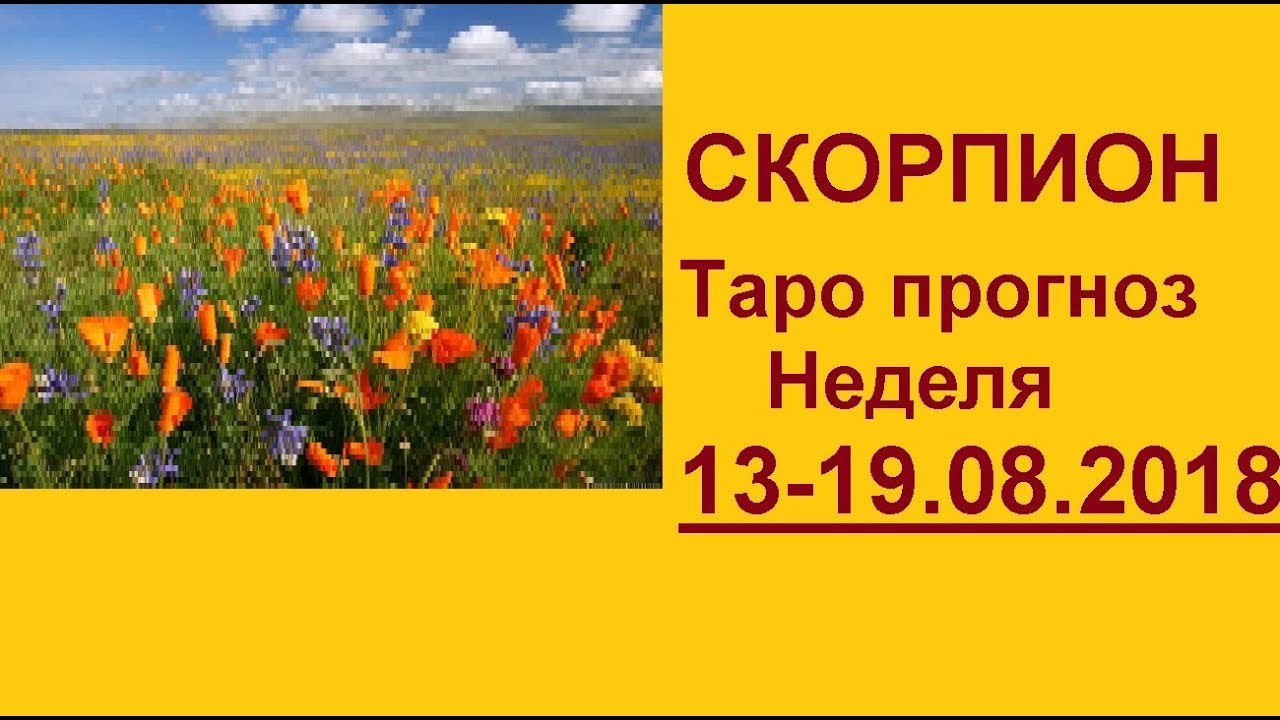 СКОРПИОН. Таро прогноз 13-19 августа 2018 +совет оракула. Гадание на картах Таро