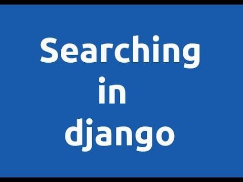 searching in django