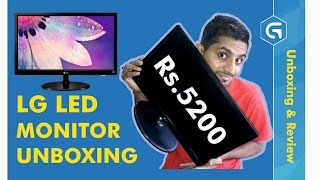 LG LED Monitor Unboxing & Review | LG-19M38 | Unboxing By Gujtech