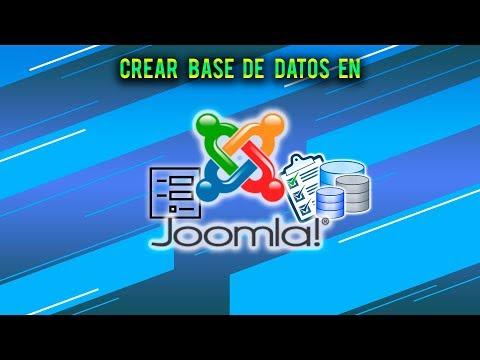 Como Crear Una Base De Datos En Joomla Con Su Formulario (PHPMYSQL,Chronofrom 5,Joodatabase)
