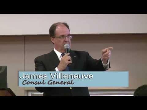 Los Angeles' Consul General of Canada James Villenueve