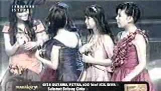 Gita gutawa feat petra, igo idol - Selamat datang cinta, live ultah RCTI 21, gita gutawa diperebutin