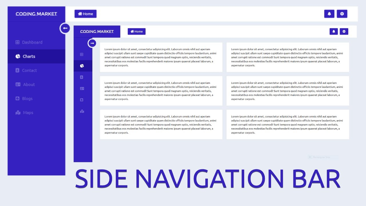 Responsive Navbar with Bootstrap 4