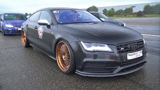 540HP Audi S7 w/ Milltek Exhaust System! REVS & DRAG RACE!