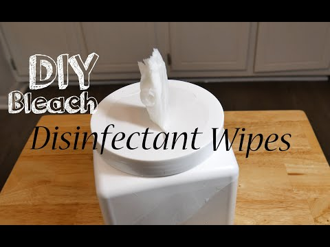 How To Make DIY Bleach Disinfectant Wipes Easy Simple