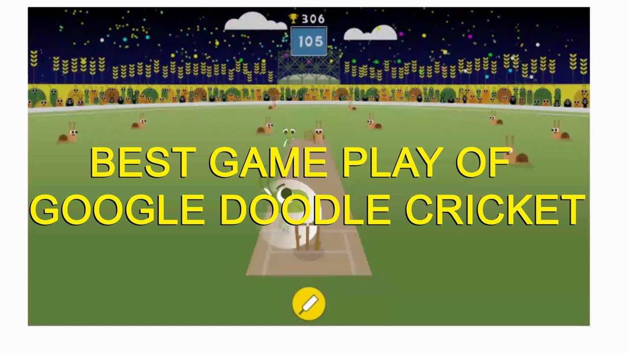 Google Doodle Cricket Highest Score Gameplay 2d Game