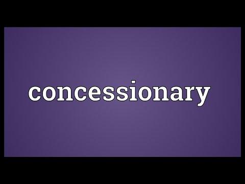 Header of concessionary