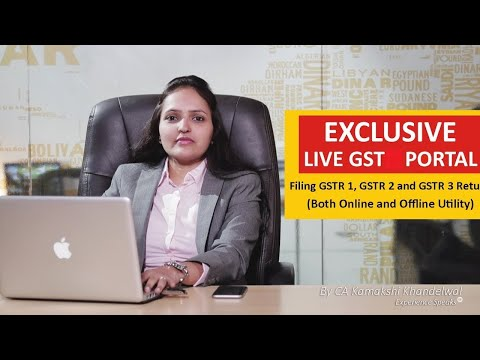 Exclusive| Live GST Network Portal| Filing GSTR 1,2,3 Return| Payment Challan| Both Online & Offline