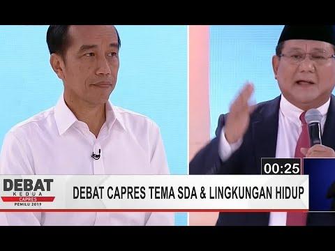 Prabowo Dukung Jokowi Terkait Denda Pelanggaran Lingkungan (Debat Capres Kedua Bag 3)
