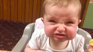 طفل يأكل الليمون لأول مرة ★ تجميع الفيديو مضحك