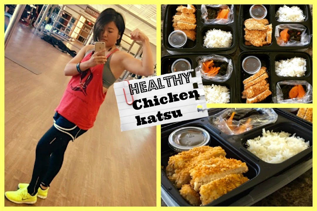 Meal Prep Healthy Chicken Katsu Recipe Non Fry Youtube