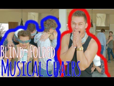 Blind Folded Musical Chairs Ft. Harrison Webb, Dominic De Angelis, Corey La Barrie, Kian Lawley