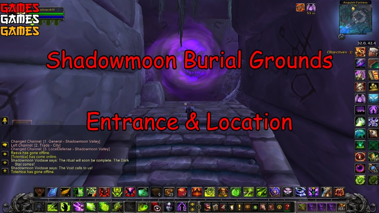 Shadowmoon Burial Grounds Dungeon Entrance Location