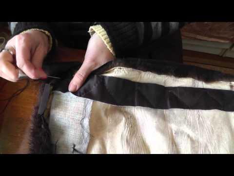 Ремонт шубы- обрабатываем низ шубы