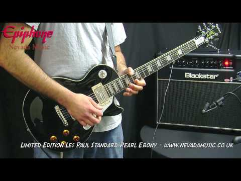 Epiphone Les Paul Standard Limited Edition Pearl Ebony - PMT
