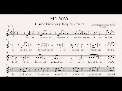 MY WAY: (flauta, violín, oboe...) (partitura con playback)