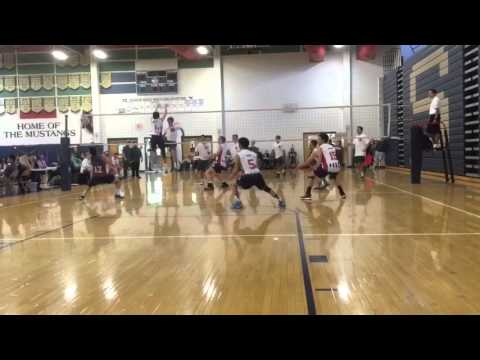 Michael Chang SWATTED IN THE FACE- Volleyball