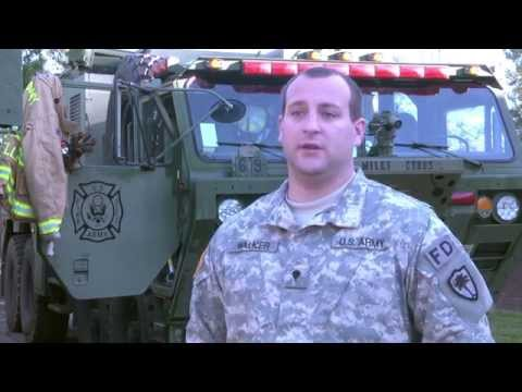 S.C. Army National Guard Firefighters respond. - YouTube