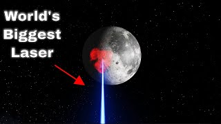 Shining The World's Most Powerful Laser At The Moon!