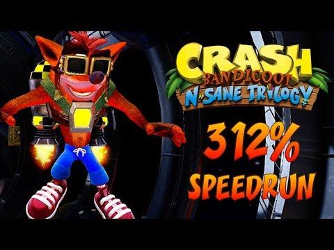Crash N. Sane Trilogy: 312% Speedrun in 9:45:20 / 8:14:59 Loadless (2K Sub Special) [Live Stream]